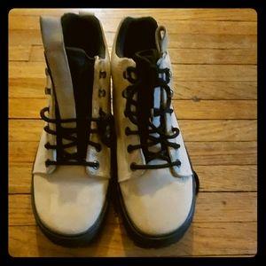 Cole haan  suede beige short boot 7.5